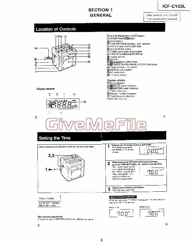 mode d 39 emploi icf c103l telecharger download pour sony radio reveil pdf manuel utilisation. Black Bedroom Furniture Sets. Home Design Ideas